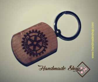 Single color with both sides round Keychain